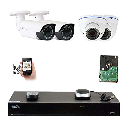 GW Security 8CH 5 Megapixel 1920P Video Home Security Camera System