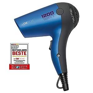 Clatronic HT 3428 - Secador de pelo de viaje, color azul metálico