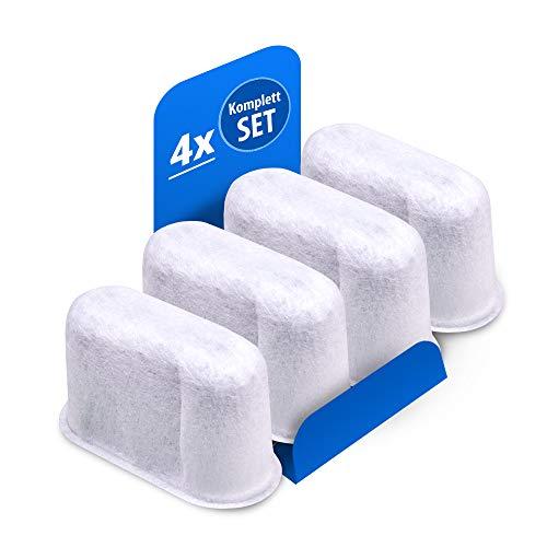 Wasserfilter 4Stk Filter Ersatz für DeLonghi 7313285779 Aktivkohlefilter Kalkfilter Entkalker für Kaffeemaschine BCO410 BCO420