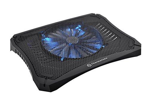 """Thermaltake Massive V20 Steel Mesh Panel Single 200mm Blue LED Fan Adjustable Speed Control 10""""-17"""" Laptop Notebook Cooling Pad CL-N004-PL20BL-A"""
