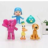 zdfgv 5 unids/Set Pocoyo Elly Pato Loula Sleepy Bird PVC Figuras de acción muñeca de Juguete niños Lindo 5-10 cm