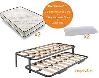 HOGAR24 ES.es-Cama Nido Estructura Reforzada Doble Barra