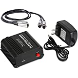 Depusheng USB 1- Channel 48V Phantom Power Supply w/ Adapter XLR Audio Cable for Condenser Micro Microphone Music Equipment
