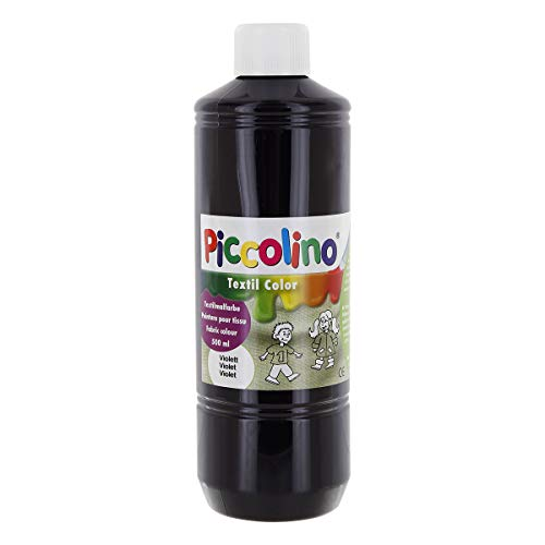 Textilfarbe violett 500ml - Stoffmalfarbe PICCOLINO Textil Color