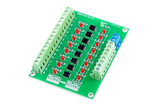 LIVISN 12V to 3.3V 8 Channel Optocoupler Isolation Board Voltage Level Translator PNP NPN to NPN PLC Signal Converter Module (8CH, 12VTO3.3V)