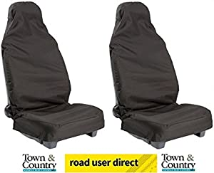Town  amp amp  Country Universal Car Front Seat Covers BLACK PAIR
