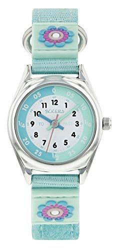 Tikkers Mädchen-Armbanduhr, Lernuhr, Aquagrün–NTK0014