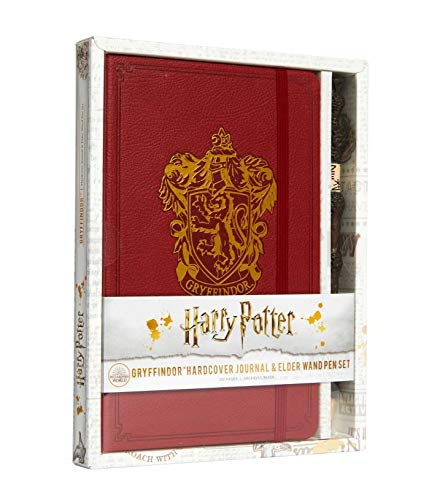 Harry Potter: Gryffindor Hardcover Ruled Journal (With Pen)