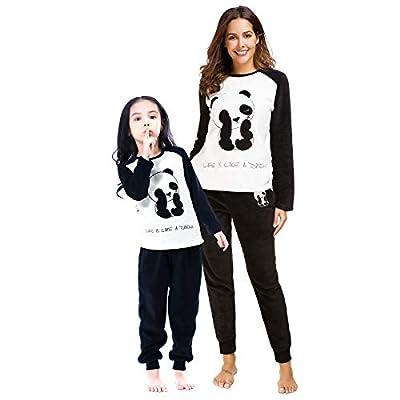 Amazon - Save 50%: Alcea Rosea Womens Fuzzy Plush Fleece Pajamas Set Long Sleeve Warm Cute P…