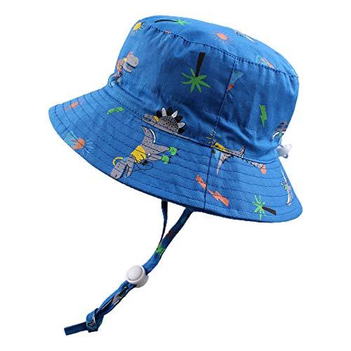 Sombrero de Sol Bebé Verano Sombreros Pescador ala Ancha Algodón Gorra con Protección Solar Anti-UV Gorro de Playa para Infantiles Niños