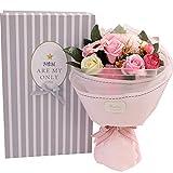 Tolyneil Fête des mères Savon Bouquet De Fleurs, Accueil Fourniture De Fleurs Décoration Artisanale Artificielle Savon Fleur Rose Bouquet Cadeaux Créatifs Cadeaux Saint Valentin (Rose)
