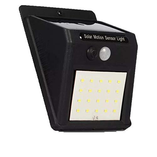 Luminária Solar 30 Leds Arandela com Sensor de Presença Automático Luz Externa de Parede Jardim