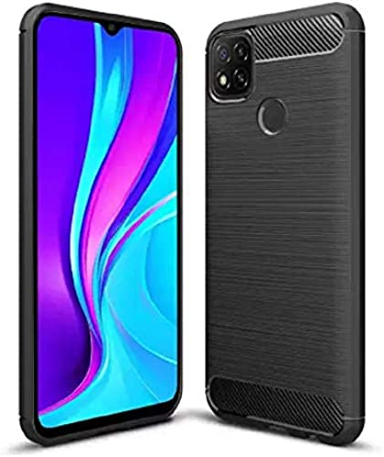 JGD PRODUCTS Carbon Fiber Hybrid Armor Drop Tested Shock Proof TPU Back Case Cover for Redmi 9 2020