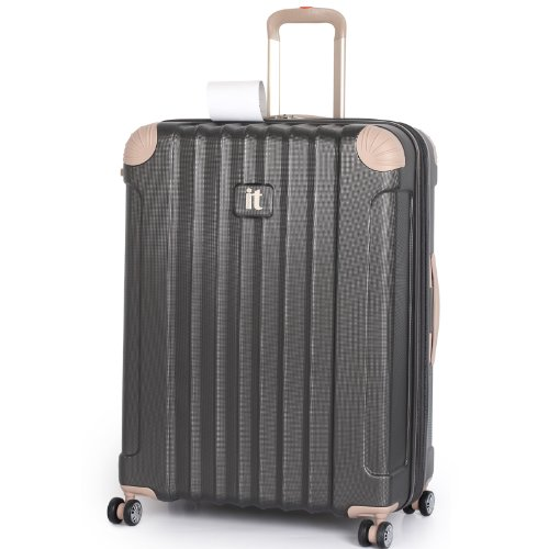 "IT Luggage Grey and Beige Large 78cm/28.5"" Protector 8 Wheel ..."