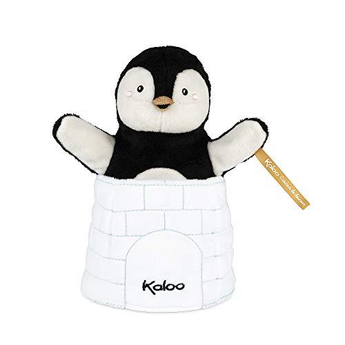 Kaloo - Colección Kachoo - Marioneta de Peluche Sorpresa para Bebé 25 cm, El Pingüino Gabin (K963593)