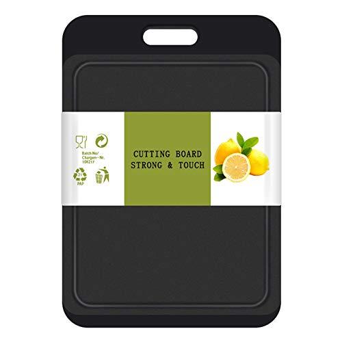 Kunststoff Schneidebrett mit Saftrillen und rutschfeste Griffe, Antibakteriell, Spülmaschinenfest,Kann für Fisch, Fleisch, Gemüse, Obst,BPA Frei