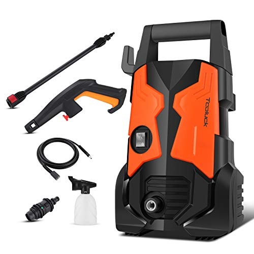 TOOLUCK Electric Pressure Washer 3000 PSI, 2.0GPM 1700W Electric Power Washer with Rotating Nozzle, Portable High Pressure Washer, Cleaner Machine for Cars/Fences/Garden/Patios/Pool (Orange)