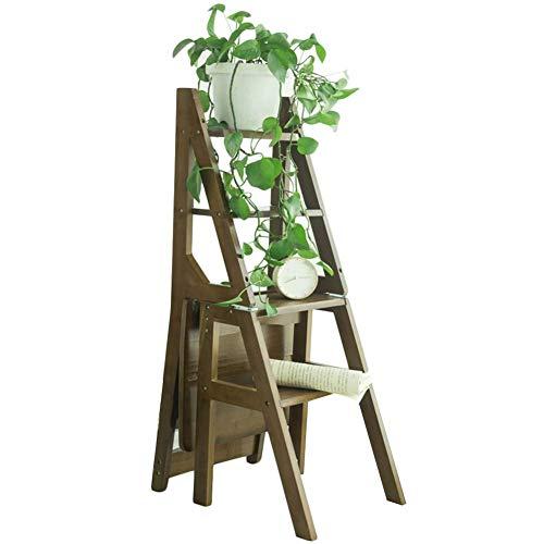 YANG HONG SHO JL YH Tabouret Multi-Fonctions Chaise Pliante Rétro Bambou Pliant Étagère Grimpante Anti-dérapante Stand De Fleurs Double Usage A+ (Couleur : C)