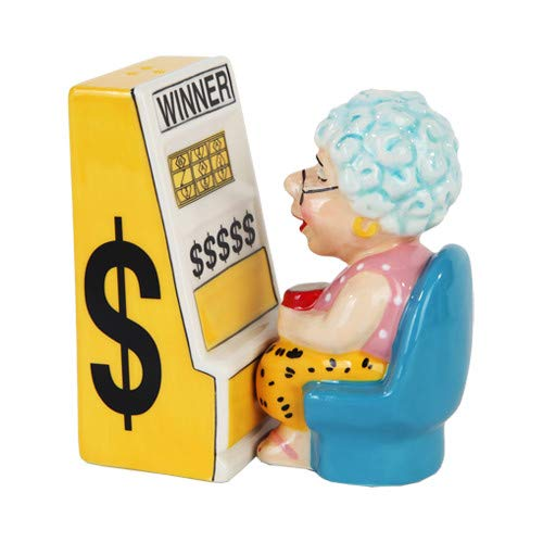 Slots Machine Queen Grandma Salt and Pepper Shakers