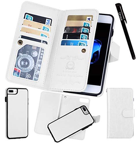 Urvoix iPhone 7 Plus / 8 Plus (5,5 ''), portemonnee lederen flip kaarthouder hoesje, 2 in 1 afneembare magnetische achterkant voor iPhone 7PLUS / 8PLUS (niet voor iPhone7)