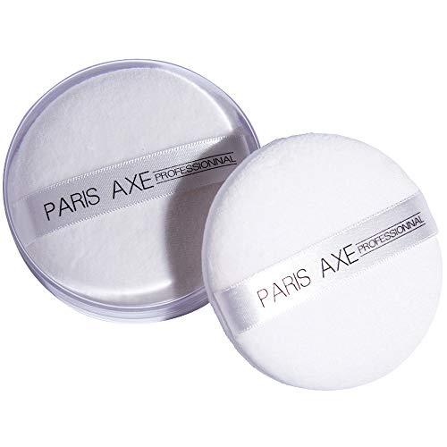ParisAx Houppette Coton dans Boite Acrylique Blanc