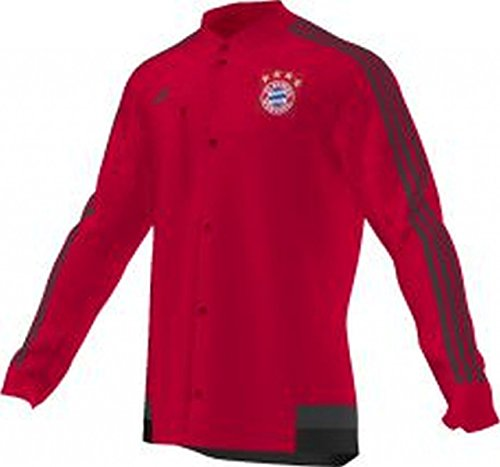 adidas Herren Jacke FC Bayern München Anthem, Red/Dark Grey/Black, L