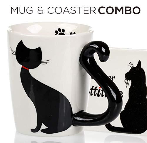 Cat Mug & Coaster Set