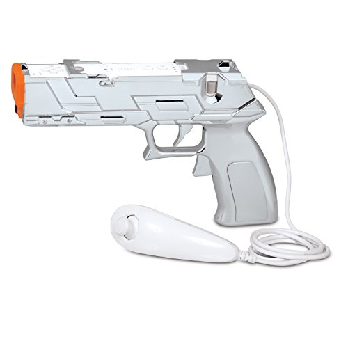 Wii Silver Edition Quick Shot Plus Dual Trigger Light Gun