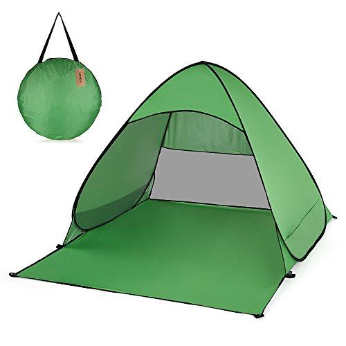 Irfora - Tienda de Playa Pop Up - Tienda de campaña para Playa y Tiempo Libre, protección UV Ligera, para Camping, jardín doméstico, Playa… (Verde)