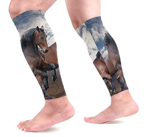 COOSUN Running Paarden Kalf Compressie Mouwen Shin Splint Ondersteuning Beenbeschermers Kalf Pijn Verlichting voor Hardlopen, Fietsen, Reizen, Sport voor Mannen Vrouwen (1 paar)