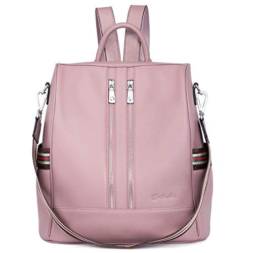 BOSTANTEN Leather Backpack Purse for Women Shoulder Bag Anti-Theft Rucksack Casual College Bags