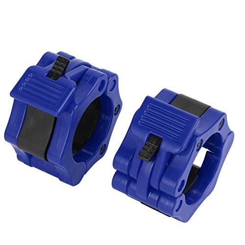 Jeanoko Abrazadera de bloqueo de mancuernas 2 piezas para levantamiento de pesas (azul)