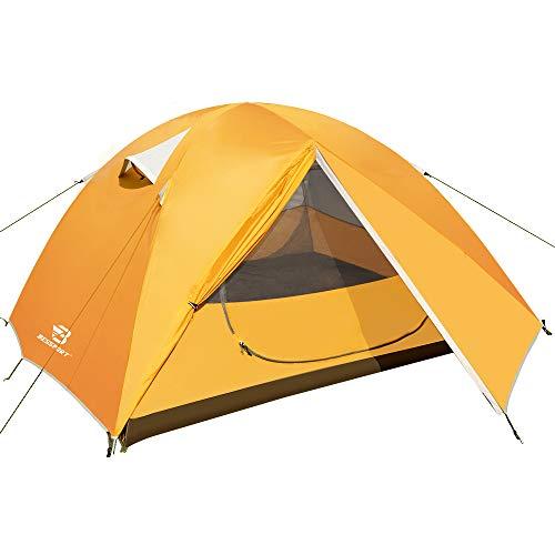 Bessport Zelt 3 Personen Ultraleichte Camping Zelte Wasserdicht 3-4 Saison Kuppelzelt Sofortiges Aufstellen für Trekking, Outdoor, Festival, Camping, Rucksack