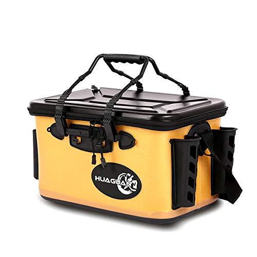 ZJY Angeleimer, Fischbox, Eva-Wassereimer, Frischköder-Wasserbehälter - Verstellbarer Schultergurt - Geeignet für Reisen, Wandern, Angeln und Bootfahren