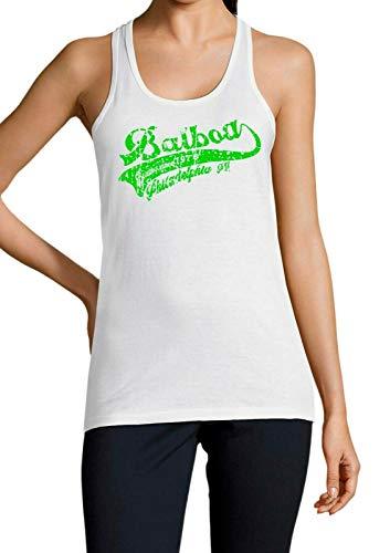 Artshirt Factory Balboa 1976 Tank Top, Farbe: Weiß/Grün, Größe: M