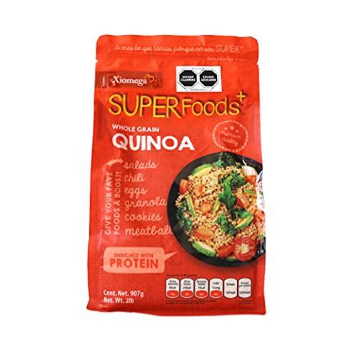 Xiomega Superfoods - Semillas de Quinoa Entera - Ideal para Enriquecer Bebidas y Alimentos (907grs)