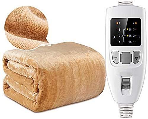 LUNAH Manta eléctrica con Apagado automático, Manta calefactora, Dimensiones XXL, 4 configuraciones...