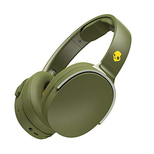 Skullcandy Hesh 3 Bluetooth Kabellose Over-Ear Kopfhörer mit Mikrofon, Schnellladefunktion mit 22 Stunden Batterielaufzeit, Faltbar, Ohrpolster, Oliv/Grün