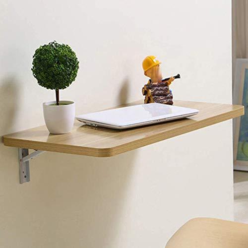 JCCOZ -T Mesa de pared de madera, escritorio plegable, página de inicio, pequeño apartamento, mesa de escritorio para ordenador, mesa de comedor, mesa T (tamaño: 80 x 50 cm)