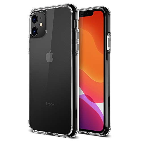 Trianium Compatible with iPhone 11 Case, Clarium Series 6.1 Inch TPU Cushion Clear Frame with Hybrid Rigid Backing Cover
