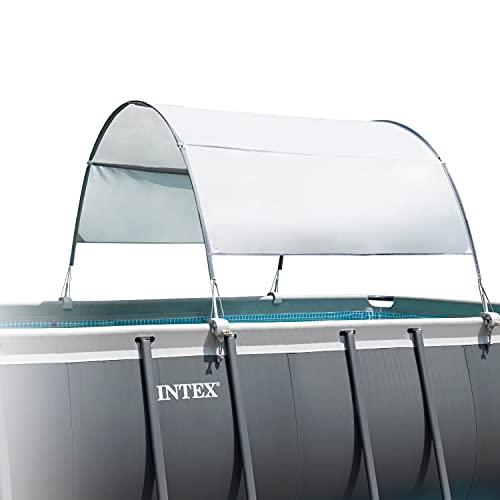 Intex Recreational Inc. 28054E Intex-Canopy for 9' and Smaller Rectangular Pool, Grey