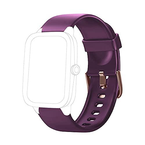 Yishark Correa de repuesto para ID205 ID205L ID205S ID205U ID205G Smartwatch Activity Tracker Correa para reloj Fitness Tracker Podómetro (Morado)