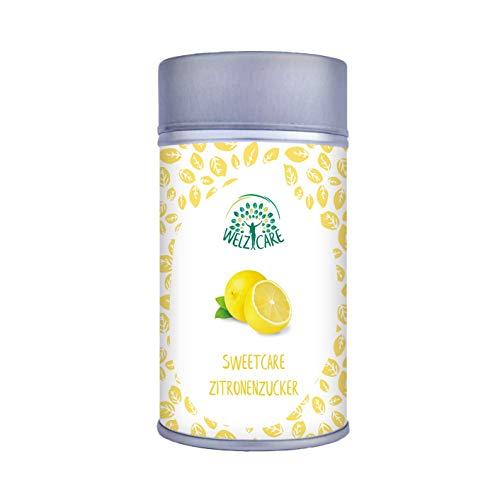 SweetCare Zucker Zitrone, der Zuckerersatz mit Erythritol, Stevia und fein gemahlenem Zitrone die natürliche Alternative zu Zucker