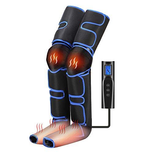 [最新改良版] フットマッサージャー エアーマッサージャー【足先+膝温感機能搭載】太もも対応 6コース 強度3段階 温度調節 足マッサージ器 足裏マッサージ機 電動マッサージ器 疲労回復 血行促進