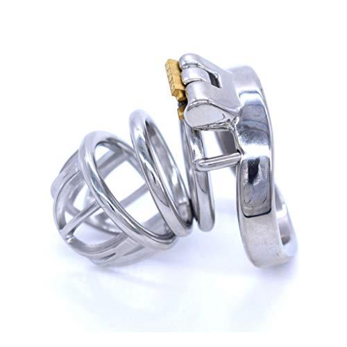 PhQiB Herren Medizinischer Stahl Chāstity Ring Edelstahl Curved Ring JJ Lock Fun Alternative Spielzeug geeignet für Männer die Jeans tragen (Größe : 50mm)