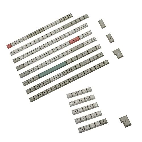 61 87 104 96 84 DSA Profil 9009 Dye Sub ANSI ISO AZERTY QWERTZ Spanien UK Französisch Deutsch Italienisch Tastenkappe PBT Tastenkappe für MX Tastatur (Deutsch ISO Set)