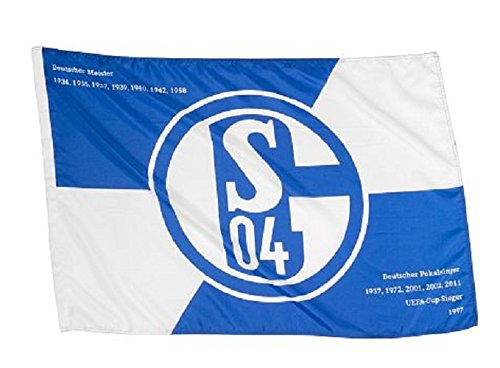 FC Schalke 04 Hissfahne/Hissflagge Erfolge 150x100 cm (Fahne) (2 Ösen)