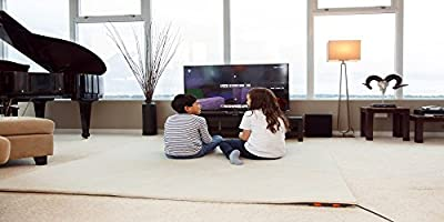 "Hot Carpet Woo Warmer Under Rug Radiant Floor Heater Electric Mat Electric Carpet Electric Heated Area Rug (500 watt 70"" x 70 inches)"