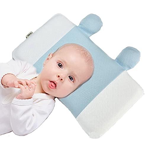 HXPainting Almohada Bebe, Almohada para Dar Forma A La Cabeza del Bebé Almohada para Dormir Suave Y Transpirable Soporte para El Cuello para 0-12 Meses Recién Nacido Prevenir La Cabeza Plana