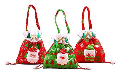 Sacchetto Regalo di Natale, FANDE Sacchetto di Babbo Natale, Sacchetto di Caramelle, Sacchetto di Natale, Regalo di Babbo Natale, Pupazzo di Neve per l'uso Quotidiano